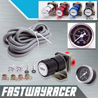 Universal Black Turbo Manual Boost Controller with Gauge