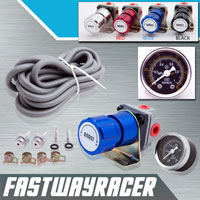 Universal Blue Turbo Manual Boost Controller with Gauge