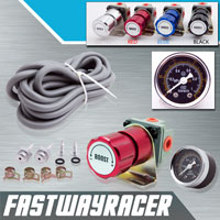 Universal Red Turbo Manual Boost Controller with Gauge