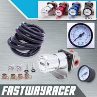 Universal Silver Turbo Manual Boost Controller with Gauge