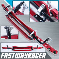 92-95 Honda Civic EG Red Aluminum Rear Subframe Brace & Rear Lower Control Arm & Tie Bar & Sway Bar