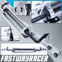 92-95 Honda Civic EG Silver Aluminum Rear Subframe Brace & Rear Lower Control Arm & Tie Bar & Sway Bar