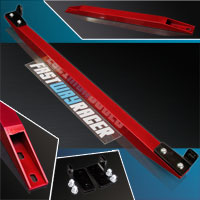 88-91 Honda CRX EF Candy Red Aluminum Rear Subframe Lower Tie Bar