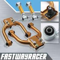 96-00 Honda Civic EK Gold Adjustable Front Upper Control Camber Arm Kit & Rear Camber Kit