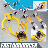 94-01 Acura Integra Yellow Adjustable Front Upper Control Arm & Gold Rear Camber Kit & Bushing Kit