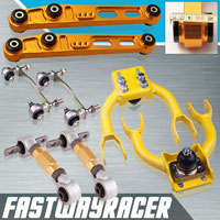 94-01 Acura Integra Gold Rear Lower Control Arm & Front Upper Control Arm & Rear Camber Kit & Bushing Kit