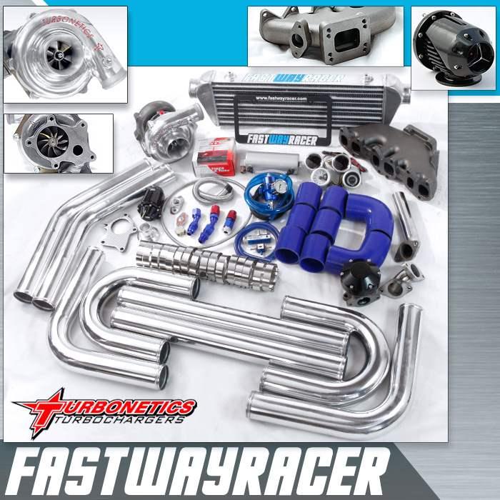 92-01 volkswagen jetta vr6 2.8l 12v t3/t4 turbo kit with turbonetics