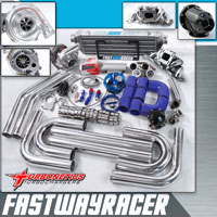 00-04 Nissan Xterra KA24DE Stainless Steel Top Mount T3/T4 Turbo Kit with Turbonetics Turbo Charger