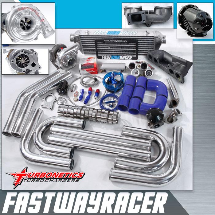 90–97 nissan hardbody truck ka24e sohc 2 4l t3/t4 turbo kit with