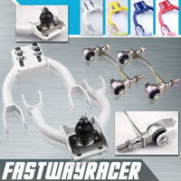 94-01 Acura Integra White Adjustable Front Upper Control Camber Arm Kit & Bushing Kit
