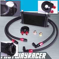 Universal 10 Rows Oil Cooler Kit