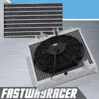 92-00 Honda Civic Manual 2 Rows Aluminum Radiator & 12&#39&#39 Cooling Fan