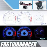 98-02 Honda Accord 4Cyl Manual White and Blue Reverse Glow Gauge