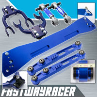 92-95 Honda Civic EG Blue Subframe Brace & Front Upper Control Arm & Rear Lower Control Arm & Rear Camber Kit