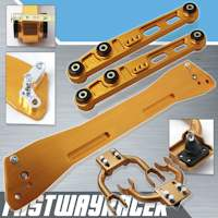 92-95 Honda Civic EG Gold Rear Subframe Brace & Front Upper Control Arm & Rear Lower Control Arm