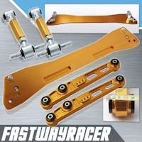 92-95 Honda Civic EG Gold Rear Subframe Brace & Rear Lower Control Arm & Rear Camber Kit