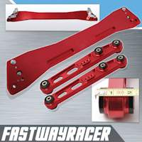 92-95 Honda Civic EG Red Aluminum Rear Subframe Brace & Rear Lower Control Arm