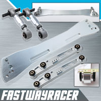 92-95 Honda Civic EG Silver Rear Subframe Brace & Rear Lower Control Arm & Rear Camber Kit
