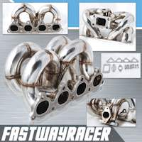 88-00 Honda Civic D15/D16 Stainless Steel Ram Horn Turbo Manifold