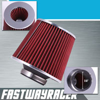 Universal High Performance Red 2.5&#39&#39 Inlet Cone Dry Flow Air Filter