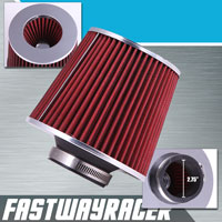 Universal High Performance Red 2.75&#39&#39 Inlet Cone Dry Flow Air Filter