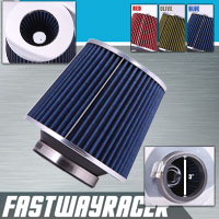 Universal High Performance Blue 3&#39&#39 Inlet Cone Dry Flow Air Filter