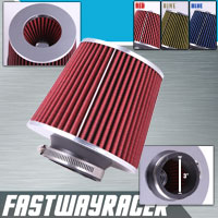 Universal High Performance Red 3'' Inlet Cone Dry Flow Air Filter