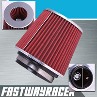 Universal High Performance Red 4&#39&#39 Inlet Cone Dry Flow Air Filter