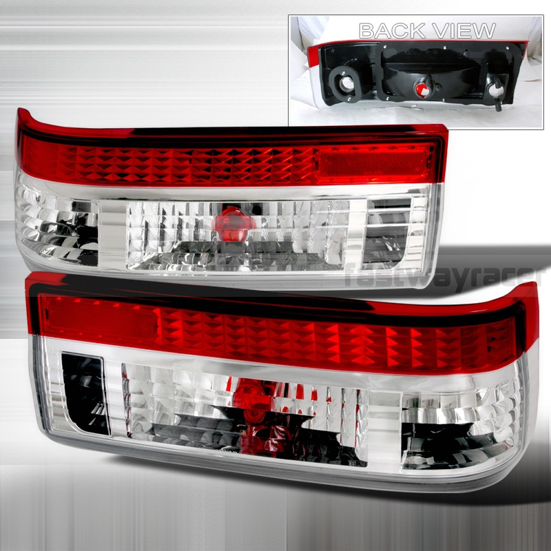 Toyota 83-97 Corolla AE86 JDM Red Clear Tail Lights & Toyota 83-97 Corolla AE86 JDM Red Clear Tail Lights - FastWayRacer.Com