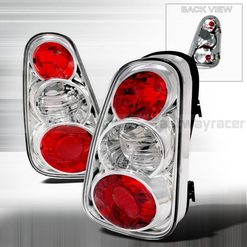 02-04 Cooper Euro Black Halo Projector Headlight+Tail Lights