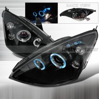 Ford 00-04 Focus Dual Halo Projector LED Headlights Black