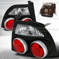Honda 94-95 Accord JDM Skyline Style Black Tail Lights